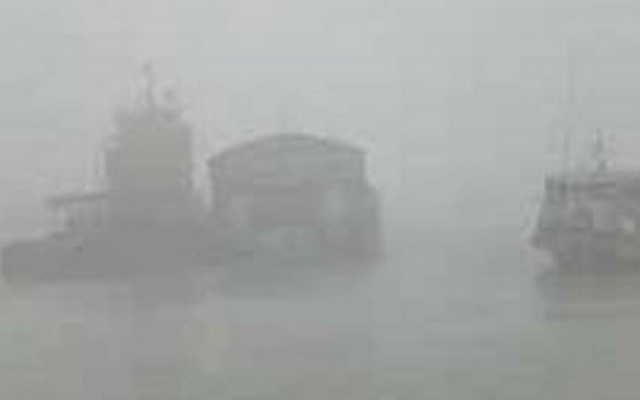 Heavy fog during winter often disrupts ferry operations. File Photo