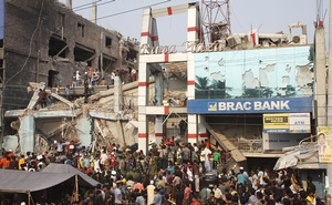 The collapsed Rana Plaza