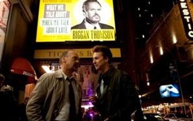 Michael Keaton as 'Riggan' and Edward Norton as 'Mark' in a still from the movie Birdman. Credit: Reuters