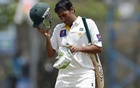 Pakistan's Younis Khan walks off the field after his dismissal by Sri Lanka's Dilruwan Perera (not pictured) during the second day of their first Test cricket match in Galle August 7, 2014. Reuters