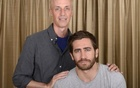 Director Dan Gilroy (L) and actor Jake Gyllenhaal are photographed during the LA Junket for the film