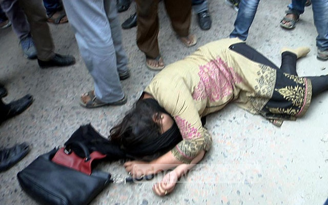 BNP's Barisal unit leader Afroza Khanam Rozi was among those injured after the party's rally was attacked on Thursday.