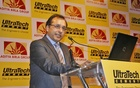 Vivek Agarwal, CEO of international business of UltraTech Cement, launches the product in Bangladesh at Radisson Water Garden Hotel on Thursday. Photo: nashirul islam/ bdnews24.com/ Dhaka, Apr 21, 2011