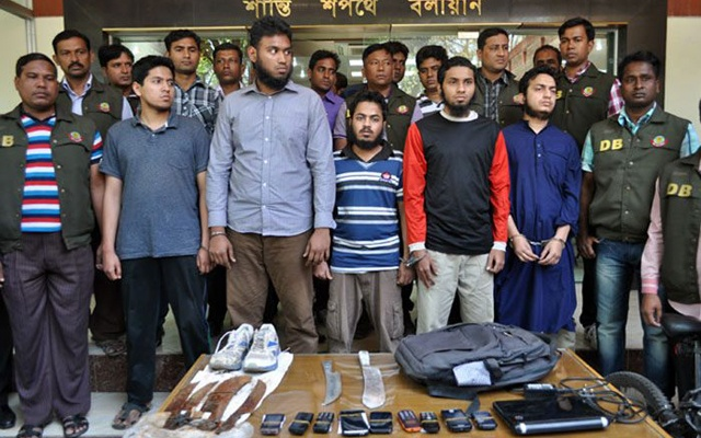 The five North South University students arrested in connection with the killing of blogger Ahmed Rajib Haider.
