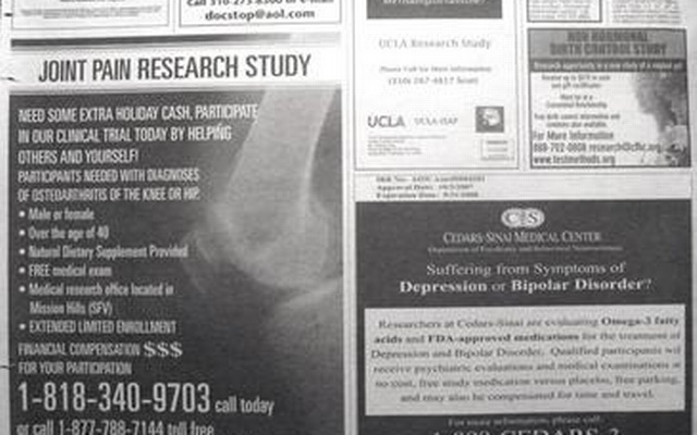 newspaper articles healthcare research