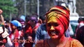 Revelry in Dol (Holi) festival on Dhaka University campus on Sunday. Photo: tanvir ahammed/ bdnews24.com