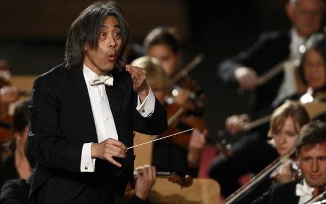 File photograph shows U.S. Director Kent Nagano conducting the Bavarian State Orchestra during a concert for Pope Benedict XVI in Paul VI hall at the Vatican October 22, 2011. Credit: REUTERS/Tony Gentile/Files