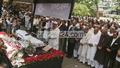 The second Namaz-e-Janaza of veteran journalist ABM Musa is held at the National Press Club premises in Dhaka on Thursday. Photo: asif mahmud ove/ bdnews24.com