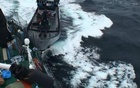 Sea Shepherd vessel ''The Bob Barker'' is pictured in contact with the port side stern of Japanese whaling ship Yushin Maru in the Southern Ocean in this February 2, 2014 handout photo by the Institute of Cetacean Research.Credit: Reuters