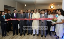 Tourism Minister Rashed Khan Menon inaugurates the 'Dhaka Travel Mart 2014' at Sonargaon Hotel in Dhaka on Wednesday. Photo: mustafiz mamun/ bdnews24.com