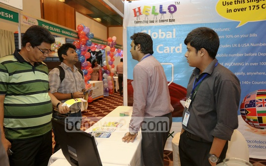 Visitors at the 'Dhaka Travel Mart 2014' at Sonargaon Hotel in Dhaka on Wednesday. Photo: mustafiz mamun/ bdnews24.com