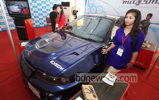 Three-day 9th Nitol-Niloy Dhaka Motor Show got underway at Bangabandhu International Conference Centre on Friday. Photo: asaduzzaman pramanik/ bdnews24.com