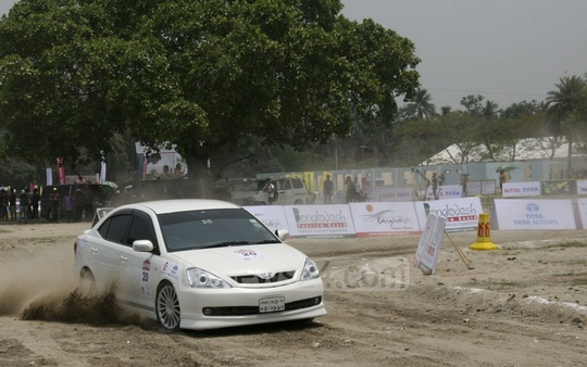 The first Nitol-Tata Rally Cross Championship, organised by Bangladesh Motorsports, begins on Saturday at the Trade Fair ground in Dhaka. Photo: asif mahmud ove/ bdnews24.com