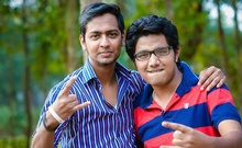Sabbir (L) and his friend Udoy (R) went missing while swimming off the Saint Martin's Island on Feb 14.