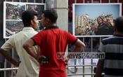 Visitors at the three-day photo exhibition titled `Aftermath: Rana Plaza' at Dhaka's Suhrawardy Udyan gate on Wednesday. Photo: asaduzzaman pramanik/ bdnews24.com