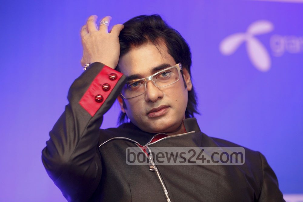 Ananta Jalil attends a press briefing at Hotel Sonargaon on Thursday. His next film, Most Welcome 2, will be released on next Eid in seven countries. Photo: asaduzzaman pramanik/ bdnews24.com