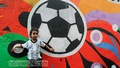 Soccer craze in Old Dhaka: Graffiti depicting football, favourite team and players donning the walls. Photo: tanvir ahammed/ bdnews24.com