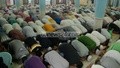 Muslims offer Tarabi Namaz at the Baitul Mukarram National Mosque in Dhaka on Sunday evening. Photo: bdnews24.com