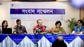 Iftekharuzzaman, executive director of Transparency International Bangladesh (TIB), tells reporters about irregularities in private universities at BRAC Centre Inn on Monday. Photo: asaduzzaman pramanik/ bdnews24.com