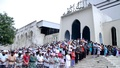 Muslim devotees attend the first Jummah prayer of this Ramadan at Baitul Mukarram National Mosque on Friday. Photo: asif mahmud ove/ bdnews24.com