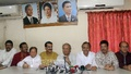 BNP Joint Secretary General Ruhul Kabir Rizvi briefs reporters at the party's headquarters on Friday. Photo: bdnews24.com