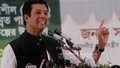 PM Sheikh Hasina's son Sajeeb Ahmed Wazed Joy speaks at a rally at Kochimonnisa Higher Secondary School on Saturday. Photo: tanvir ahammed/ bdnews24.com