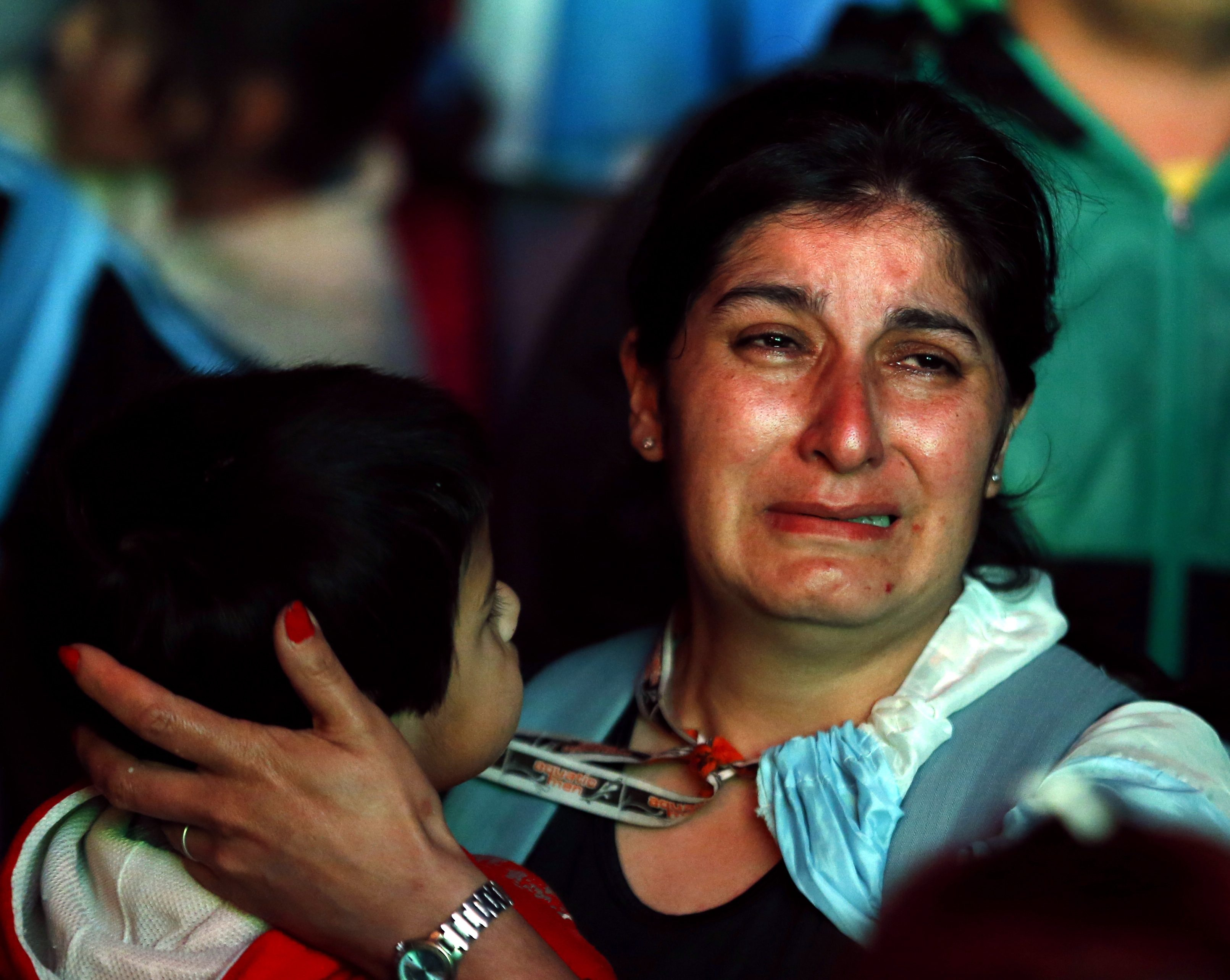 An Argentina fan reacts after Argentina lost to Germany in their 2014 World Cup final soccer match in Brazil, at a public square viewing area in Buenos Aires. Reuters