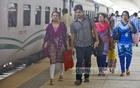 Holidaymakers rush to their homes to spend the Eid with their loved ones. Photo taken at Kamalpur Railway Station on Thursday. Photo: asaduzzaman pramanik/ bdnews24.com