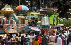 Children enjoy rides at the Dhaka 'Shishu Park' on Wednesday, a day after the Eid-ul-Fitr. Photo: bdnews24.com