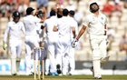 India's Rohit Sharma (R) leaves the field after being dismissed during the third cricket Test match against England at the Rose Bowl cricket ground in Southampton, England July 29, 2014. Reuters