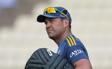 South Africa's Jacques Kallis arrives at a practice session ahead of their second One Day International cricket match against Sri Lanka in Pallekele July 8, 2014. Reuters