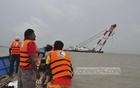 Search continues for Pinak-6, the launch that sank in the Padma River with around 350 passengers on Monday. The photo was taken on Tuesday. Photo: asif mahmud ove/ bdnews24.com