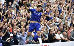 Chelsea's Diego Costa celebrates after scoring a goal against Leicester City during their English Premier League football match at Stamford Bridge in London, August 23, 2014. Reuters