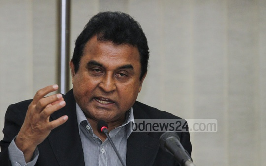 Planning Minister AHM Mustafa Kamal speaks at the launching ceremony of Bangladesh Delta Plan 2100 Formulation Project on Wednesday at the National Economic Council. Photo: tanvir ahammed/ bdnews24.com