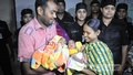 Runa Akhter and Kaosar Hossain are overwhelmed with joy at the return of their child who was stolen from Dhaka Medical College Hospital eight days ago right after he was born. Photo: bdnews24.com
