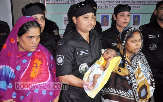RAB arrested two women for stealing a child from Dhaka Medical College Hospital. Photo: bdnews24.com