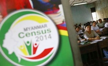 Volunteers attend a census training course at a school in Yangon March 23, 2014. Credit: Reuters