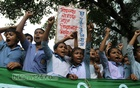 Young students demand preservation of all education centres from a protest at Dhaka's Bailey Road on Thursday. Photo: nayan kumar/ bdnews24.com