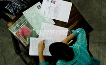 Admission tests to Dhaka University's science faculty (Ka unit) were held on Friday. Photo: tanvir ahammed/ bdnews24.com