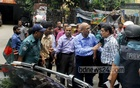 Education Minister Nurul Islam Nahid inspects publishers at Banglabazar on Monday to check the quality of print in textbooks. Photo: bdnews24.com
