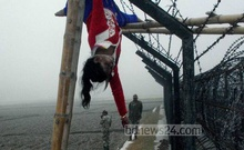 Perhaps the most recognisable image of BSF atrocities is 15-year-old Felani Khatuns's body hanging motionlessly on a barbwire fence after the guards shot her on Jan 7, 2011. Photo: Shib Shankar Chatterjee