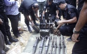 RAB finds more weapons at Satchharhi reserve forest in Habiganj on Thursday.  Photo: bdnews24.com