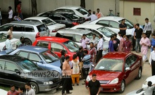 A buyer taking a car for a test drive at a car market that is being held on the Rajdhani High School ground in Dhaka on every Friday for the past 15 years. Photo: tanvir ahammed/ bdnews24.com