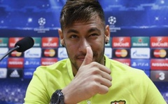 Neymar gestures during a news conference at Joan Gamper training camp, near Barcelona October 20, 2014. Reuters