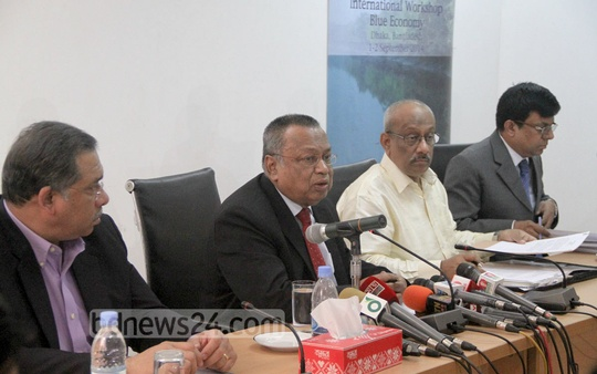 Foreign Minister AH Mahmood Ali briefs reporters on Friday on the president and prime minister's upcoming UAE visit. Photo: asif mahmud ove/ bdnews24.com