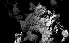 A probe named Philae is seen after it landed on a comet, known as 67P/Churyumov-Gerasimenko, in this CIVA handout image released Nov 13, 2014. Credit: Reuters