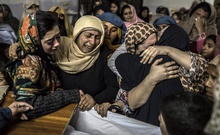 Women mourn their relative Mohammed Ali Khan, 15, a student who was killed during an attack by Taliban gunmen on the Army Public School, at his house in Peshawar Dec 16, 2014. Reuters