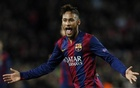 Barcelona's Neymar celebrates after scoring a goal against Paris St Germain during their Champions League match at the Nou Camp stadium in Barcelona. Reuters