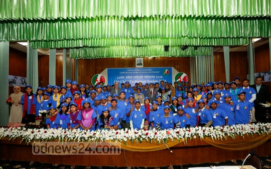 The 12th Child Parliament Session 2014 held at Dhaka's LGED Auditorium on Sunday. Photo: asif mahmud ove/ bdnews24.com