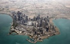 An aerial view shows Doha's diplomatic area March 21, 2013.